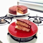 Vanilla Cake with chocolate frosting - and it's gluten free!