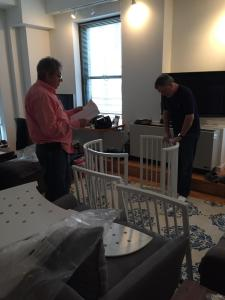 Grandpas putting the crib together AFTER Isla was born. See? It works out.